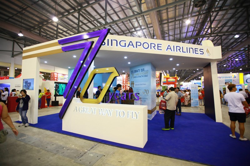 Exhibition Booth Supplier Singapore : Natas travel fair essential werkz