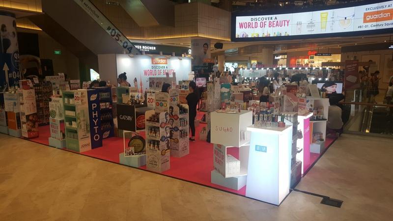 Exhibition Booth Set Up Singapore : Guardian beauty atrium essential werkz