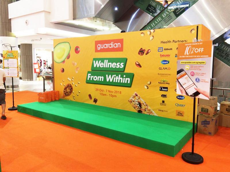 Exhibition Booth Set Up Singapore : Guardian health atrium essential werkz